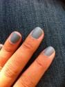 Vernis gris (acheté en Thaïlande) + top coat mat Kiko
