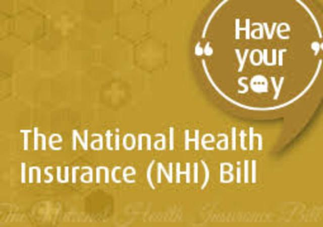 National Health Insurance Bill:  Have your say on the NHI
