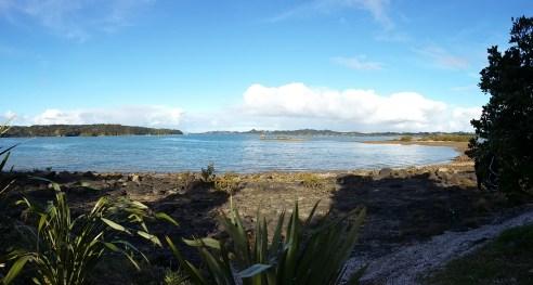 Aussicht vom Campingplatz auf die Bucht