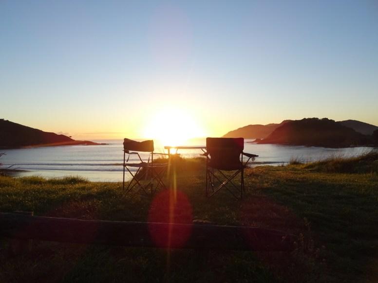 Sonnenaufgang in der Maitai Bay