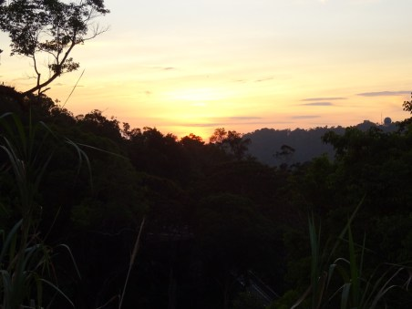 Sonnenuntergang vom Penang Hill