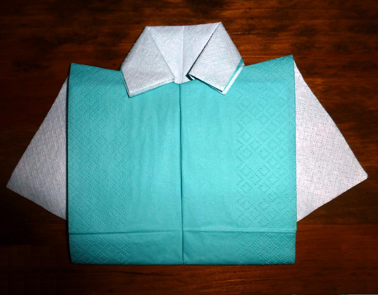 Pliage En Papier Raliser Une Chemise Ou Chemisette