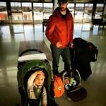 Papa and Kids Gay dad airport