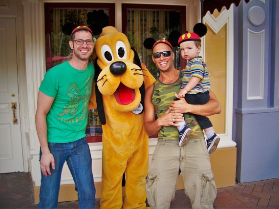 Taylor Family with Pluto Mainstreet USA
