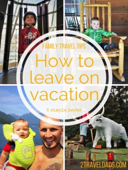 Getting ready to leave on a family travel vacation can be stressful. Here are five tips to take the stress out of travel prep! 2traveldads.com