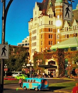 Empress Hotel Victoria BC facade with Zed VW van2.JPG