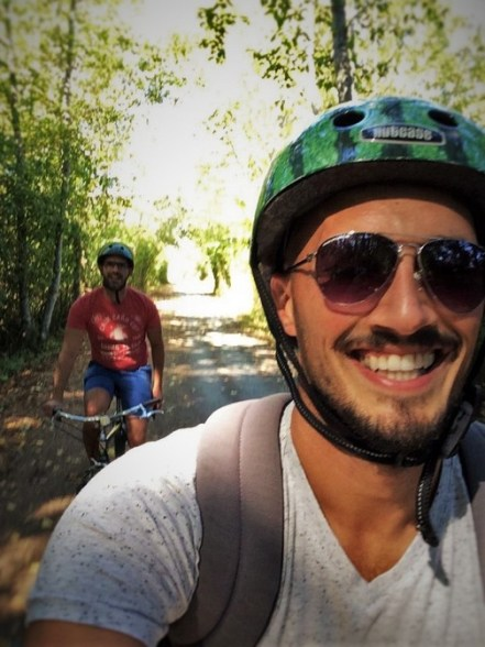 Rob Taylor biking on Galloping Goose Trail 1q