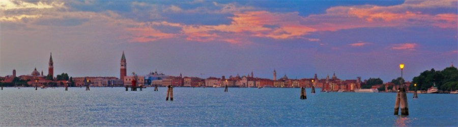 Venetian Sunset Venice from Lido 2