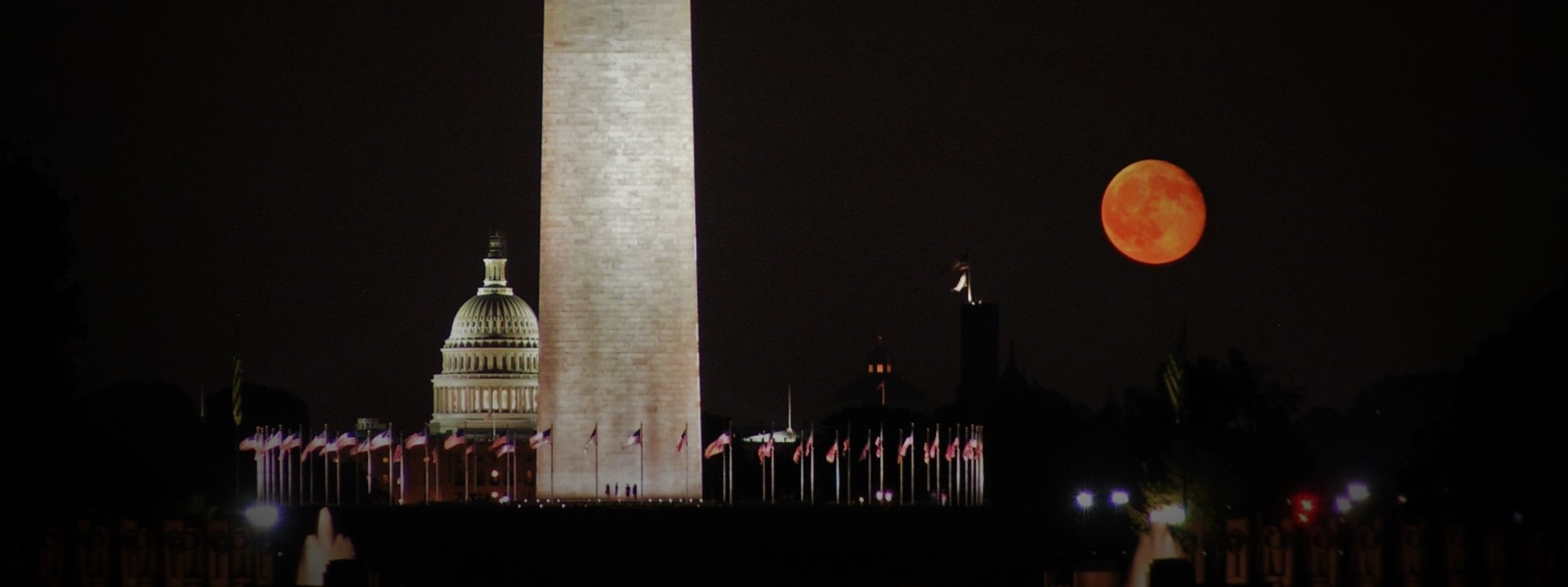 Washington DC Capitol Monument and Blood Moon Header