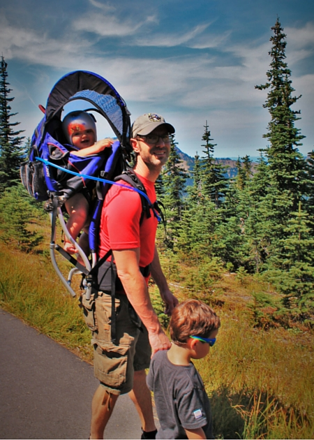 Chris Taylor and LittleMan Hiking at Hurricane Ridge in Olympic National Park 2traveldads.com