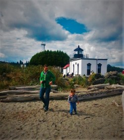 Chris Taylor and LittleMan at Point No Point Lighthouse 1