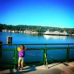 LittleMan on Ferry Eagle Harbor Bainbridge