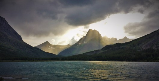 Storm on Swiftcurrent Lake Glacier National Park 1