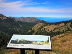 View to Canada hiking Hurricane Ridge in Olympic National Park 2traveldads.com