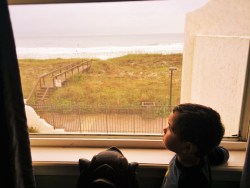 LittleMan Watching Surfers from Casa Marina Jax Beach 1