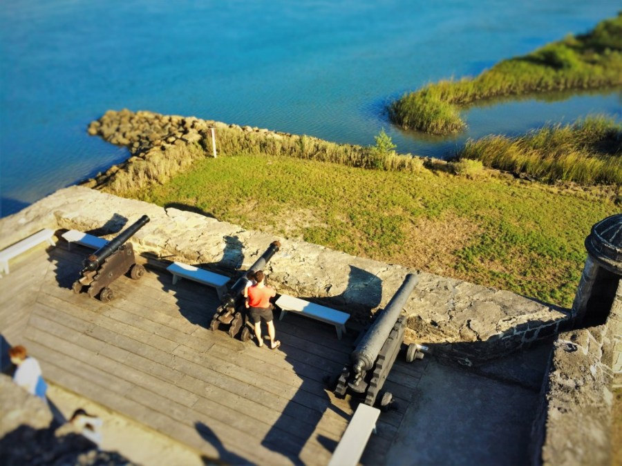 Chris Taylor and TinyMan with Cannons at Fort Matanzas National Monument St Augustine FL 1