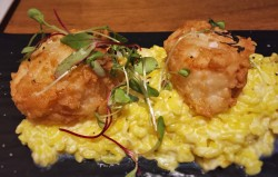 Fried Scallops on Risotto at Echo Restaurant King and Prince Resort St Simons GA 1