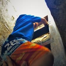 LittleMan climbing ladder in Fort Matanzas National Monument St Augustine FL