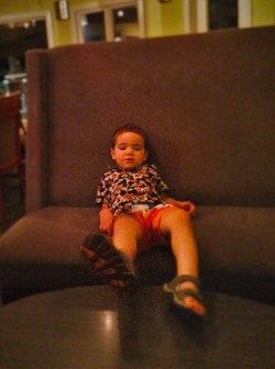 LittleMan on Couch at Casa Marina Penthouse