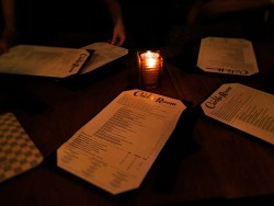 Menus at Carlile Room Seattle candleligt