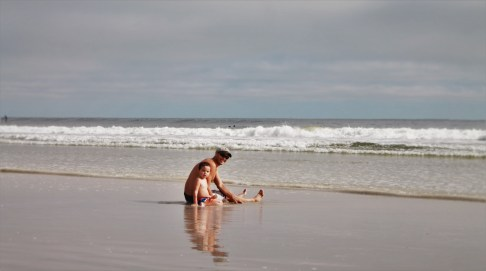 Rob Taylor and LittleMan in Surf Jax Beach 1