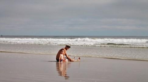 Rob Taylor and LittleMan in Surf Jax Beach 1