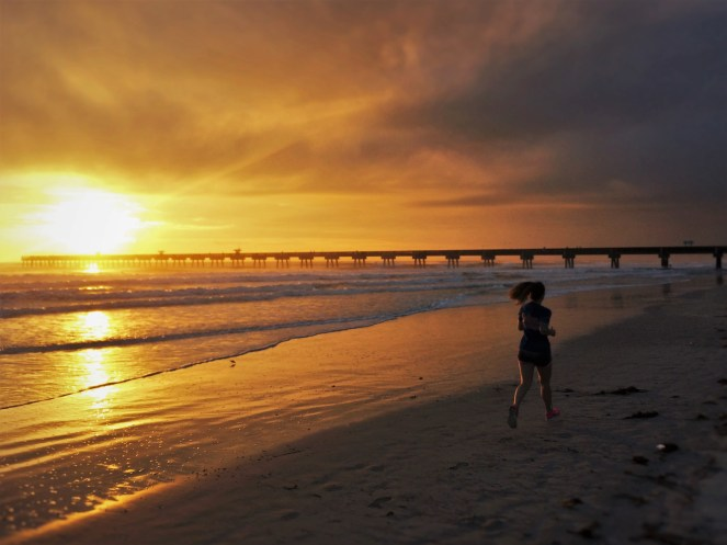 Runner at Sunrise at Casa Marina Jax Beach 1