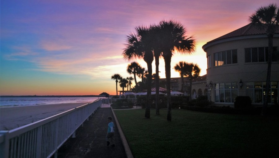 Sunset at King and Prince Resort St Simons GA