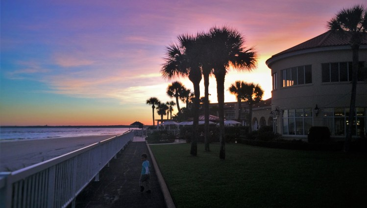 Sunset at King and Prince Resort St Simons GA