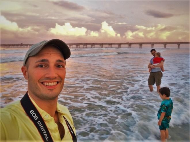 Taylor Family at Jax Beach Sunset 1