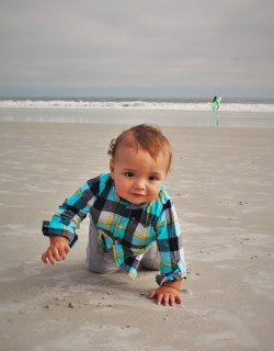TinyMan Crawling on sand at Jax Beach 1