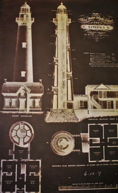 Blueprints of St Simons Island Lighthouse Georgia 2traveldads.com