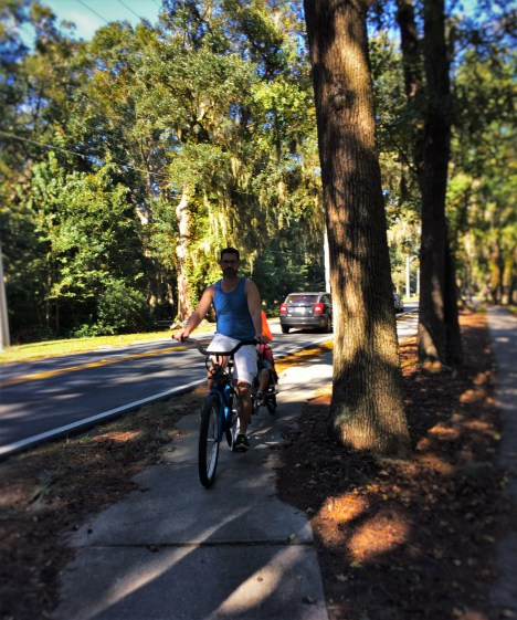 Chris Taylor with LittleMan Biking St Simons Island GA 1