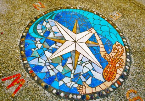 Mosaic Compass with Octopus at Pirate Museum St Augustine FL 1