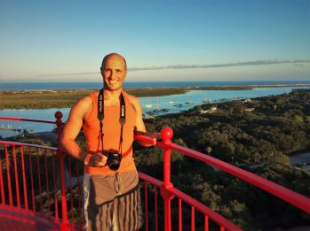 Rob Taylor at the top of the St Augustine Lighthouse 1