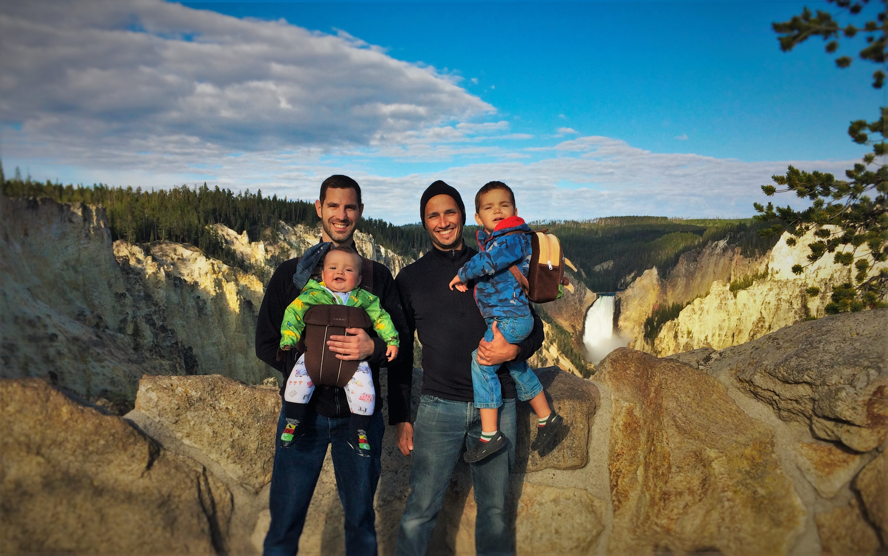 All four guys at the Grand Canyon of Yellowstone. It's a privilege to share places like this with the kids as they grow up.