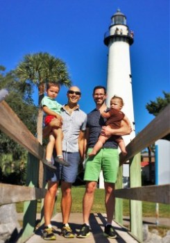 Taylor Family at St Simons Island Lighthouse Georgia 2traveldads.com