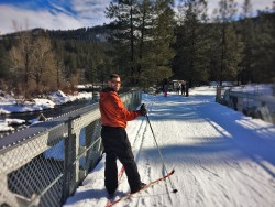 Chris Taylor Cross Country Skiing at Sleeping Lady Resort Leavenworth WA 4