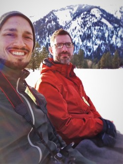Chris and Rob Taylor on Sleigh Ride in Snow in Leavenworth WA 2traveldads.com