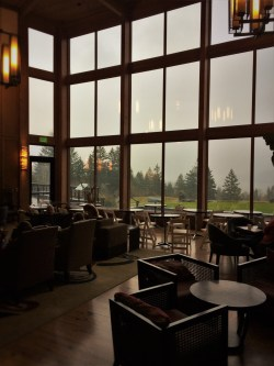 Floor to Ceiling Windows in Lobby at Skamania Lodge 2traveldads.com