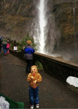 LittleMan at Multnomah Falls Columbia Gorge Oregon