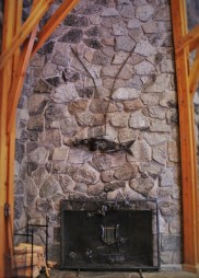 Metal Salmon sculpture at Sleeping Lady Resort Leavenworth 2traveldads.com