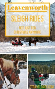 Sleigh Rides in Leavenworth, Washington are a nice way to have a chill afternoon. Better for couples or family travel?? 2traveldads.com