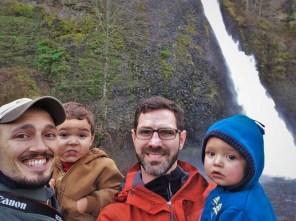 Taylor Family at Horsetail Falls in the Columbia Gorge Oregon