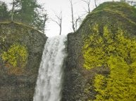 Top of Latourell Falls Columbia Gorge Oregon