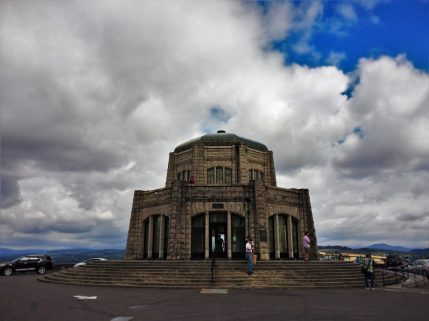 Vista House at Crown Point Waterfall Area Columbia Gorege Oregon 2traveldads.com