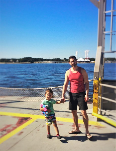 Chris Taylor and LittleMan on the St Johns River Ferry