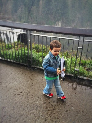LittleMan and Snoqualmie Falls Washington in Winter 3