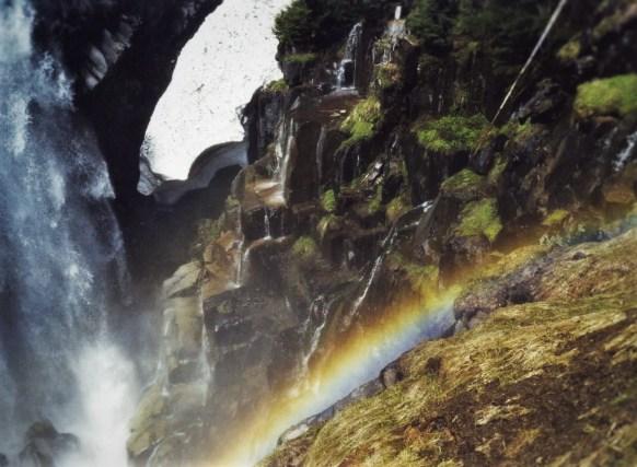 Narada Falls Rainbow Mist in Mt Rainier National Park 2traveldads.com