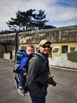 Rob Taylor and TinyMan at bunkers at Fort Worden Port Townsend 2